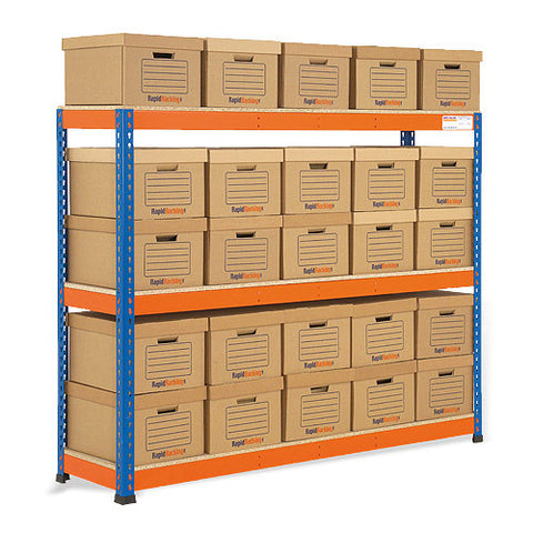 RSS 1 Orange and Archive Storage Unit 25 boxes