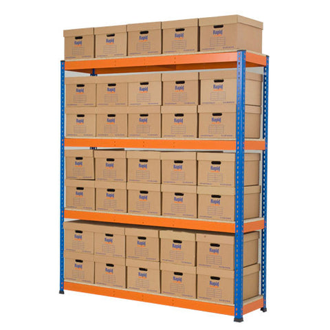 RSS 1 Orange and Archive Storage Unit 35 boxes