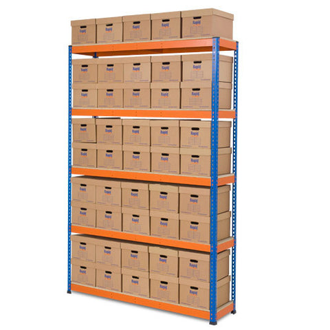 RSS 1 Orange and Archive Storage Unit 45 boxes