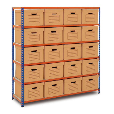 RSS 2 Doc Storage 1600hx1525wx455mmd c/w 20 brown boxes