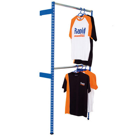 RSS 2 Wall Fixed Garment Bay - (1980mm) High x (350mm) Deep - 2 Levels