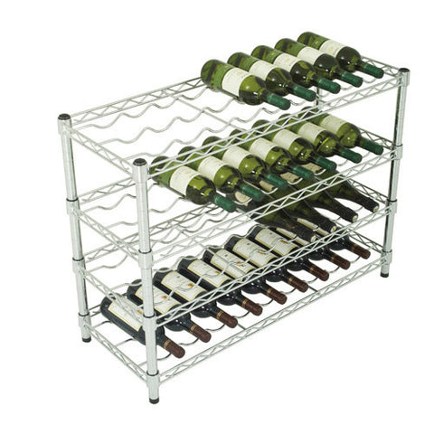 36 Bottle Chrome Wine Rack 660h x 915w x 355d