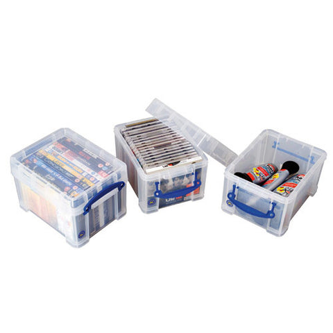 Really Useful Box 3ltr Clear pack of 4
