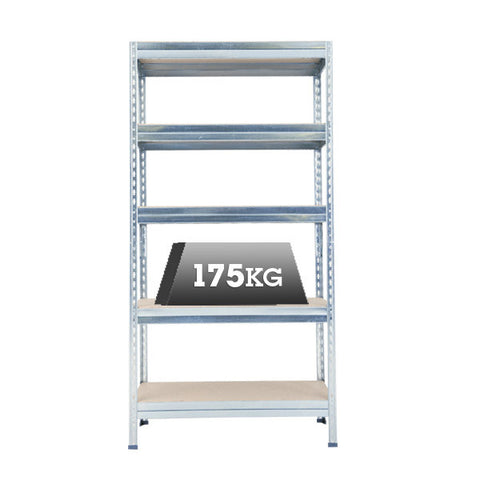 Budget Galvanized Shelving - 5 Shelves
