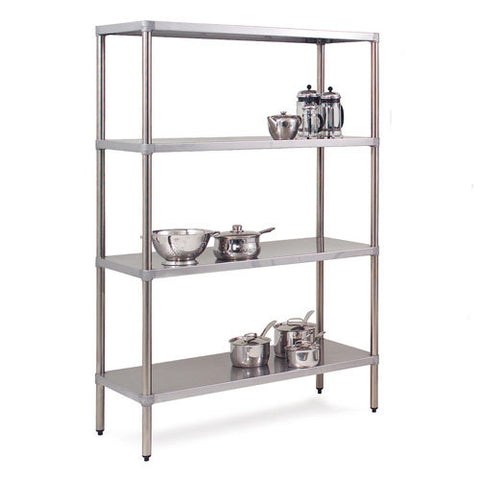 Stainless Steel Shelving - 4 Levels