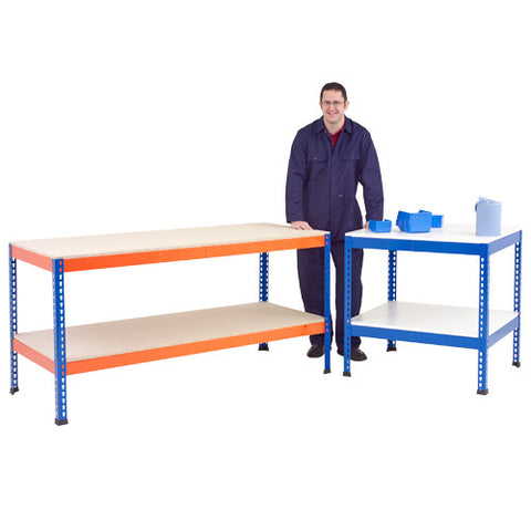 Workbench with Full Lower Shelf (Melamine)