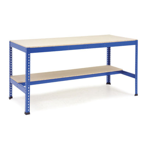 Workbench with Half Lower Shelf (Melamine)