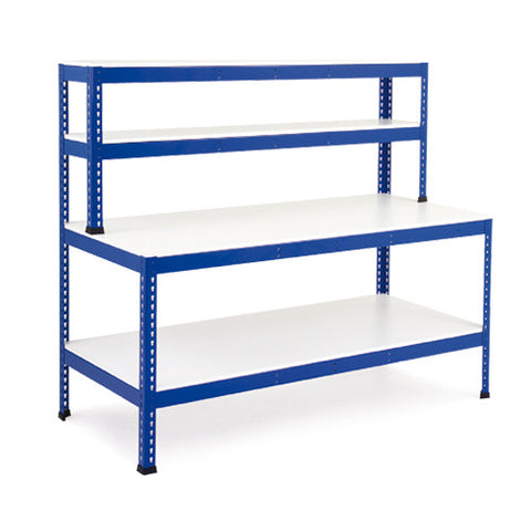 Workstation with Full Lower Shelf (Melamine)