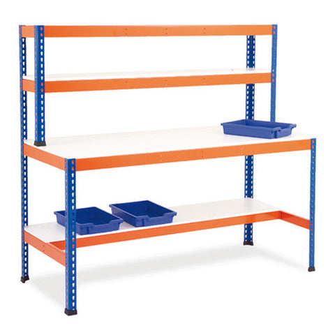 Workstation with Half Lower Shelf (Melamine)