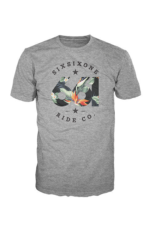 TROPICS TEE HEATHER GRAY