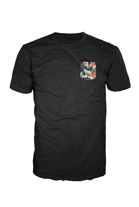 TROPICS POCKET TEE BLACK