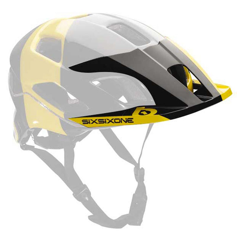 EVO AM TRES VISOR BLACK/YELLOW OS
