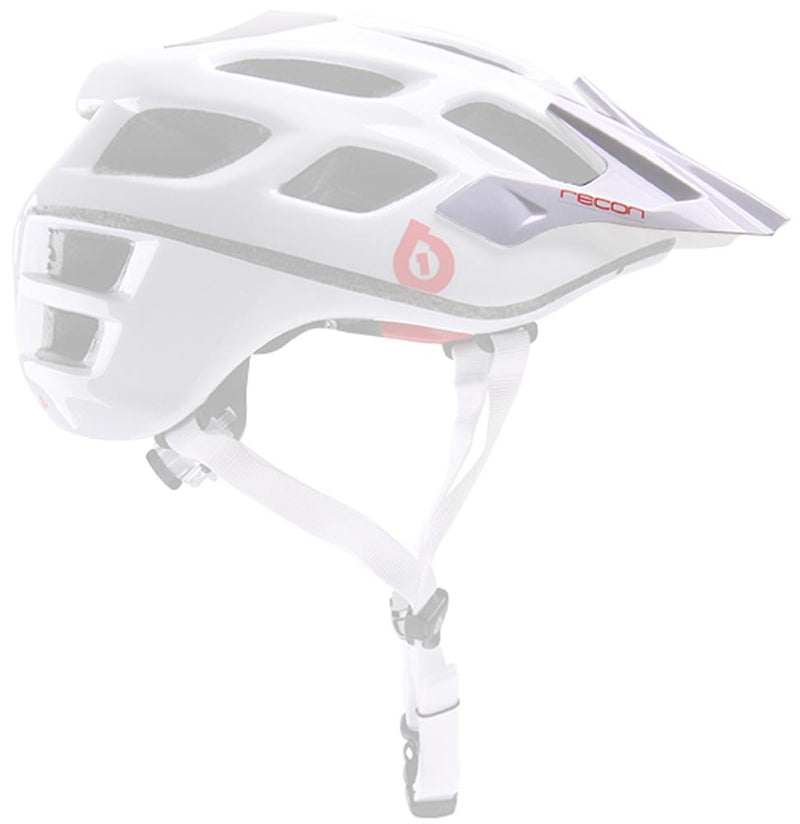 RECON SCOUT HELMET VISOR WHITE/RED OS