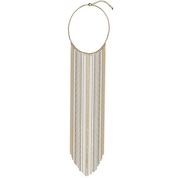 Gold Statement Chain Tassel Necklace