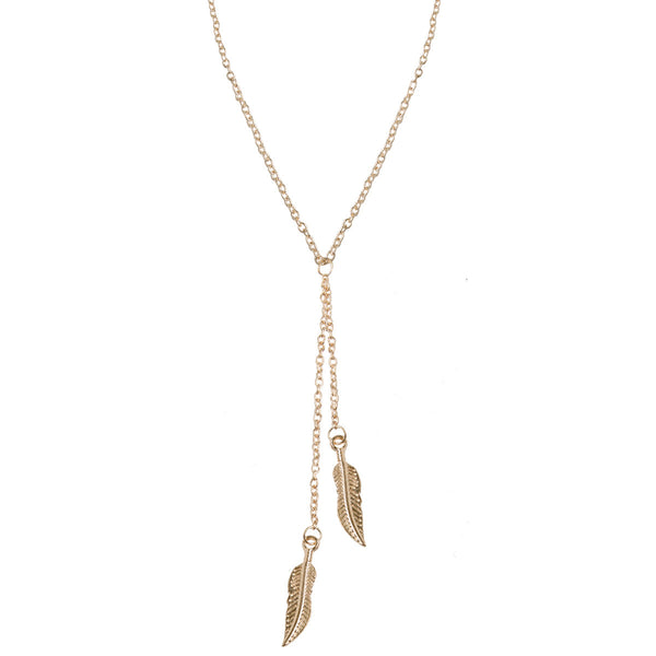 ARIANA Dainty Gold Leaf Necklace
