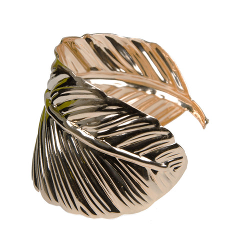 Statement Gold Leaf Wrap Cuff Bangle