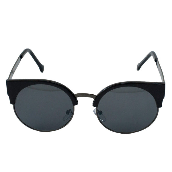 Round Black Cat Eye Sunglasses