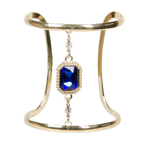 DANICA Gold Cut Out Sapphire Jewel Cuff