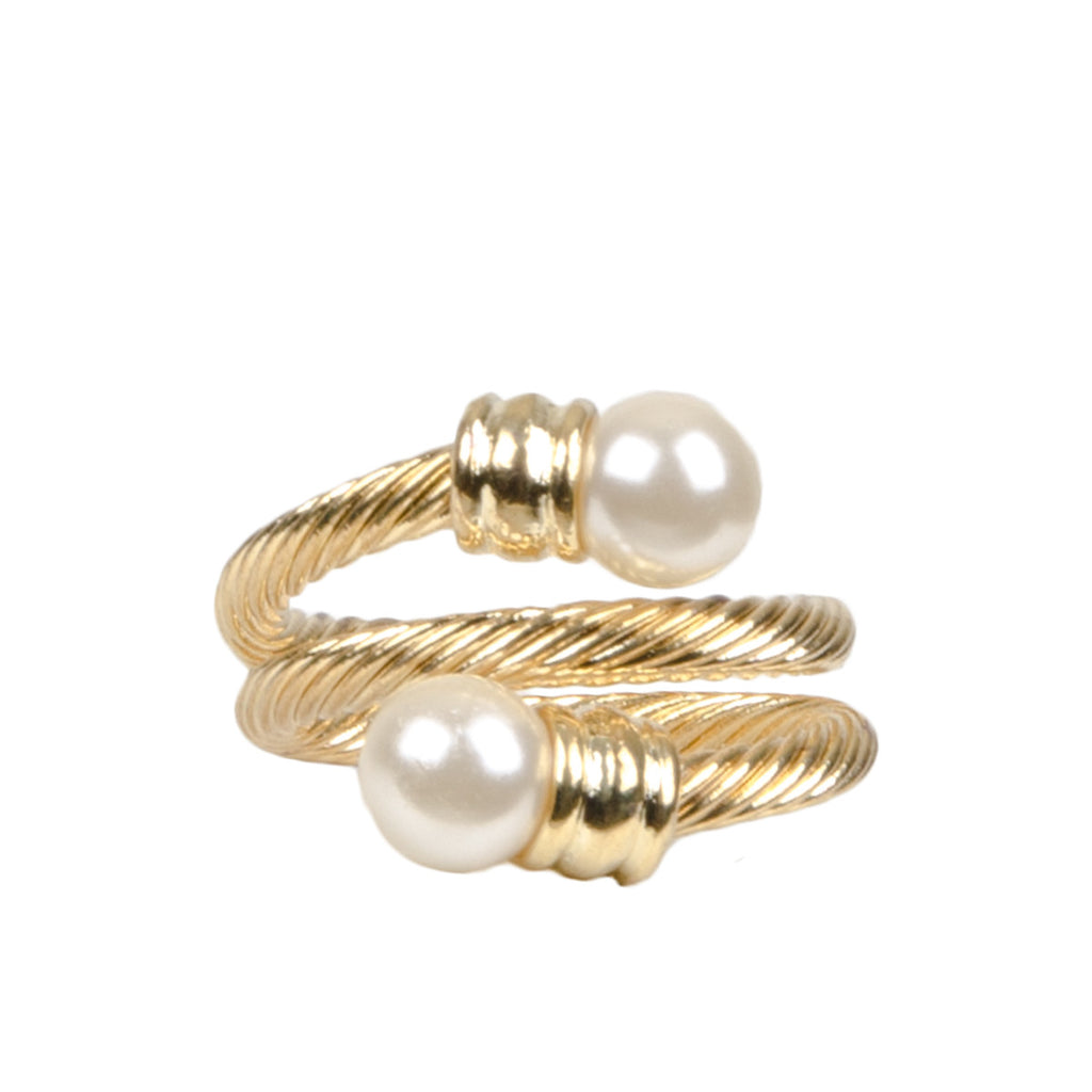 EVIE Gold Pearl Wrap Ring
