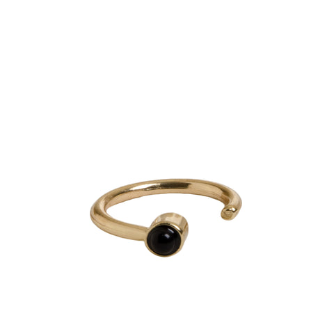 FARAH Dainty Gold Cuff Ring