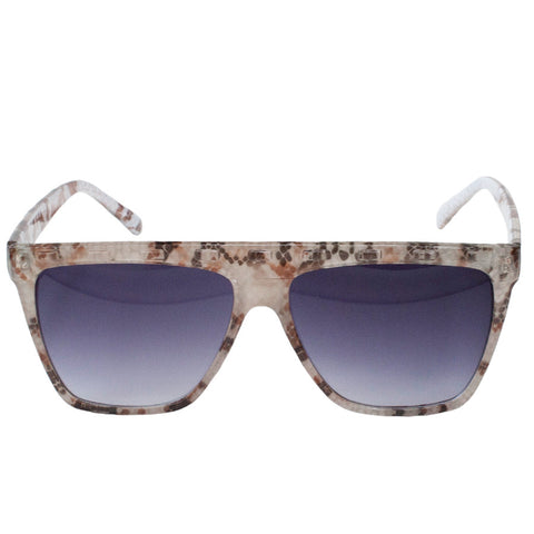 Snakeskin Flat Top Sunglasses