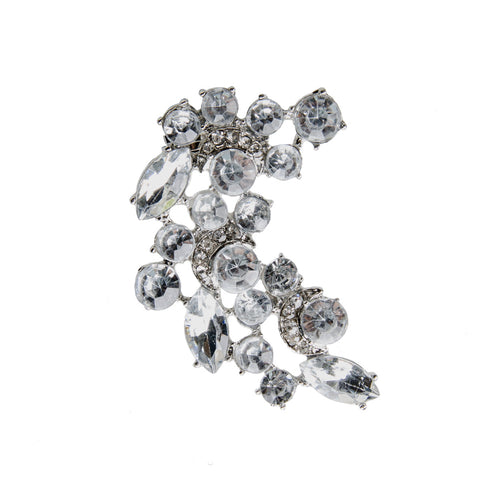 GIANNA Silver Statement Jewel Earcuff