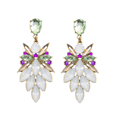 JENNA Pastel Jewel Chandelier Earrings