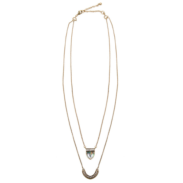 ADELE Dainty Multi Row Jewel Necklace