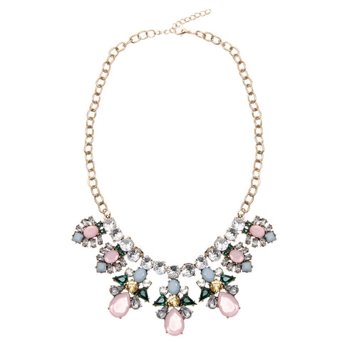 LILY Statement Pastel Multi Jewel Necklace