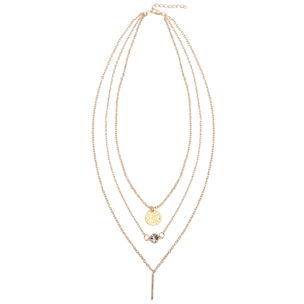 MILLIE Gold Jewel Charm Layered Necklace