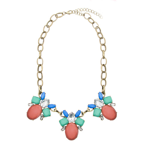 Multicoloured Floral Jewel Necklace