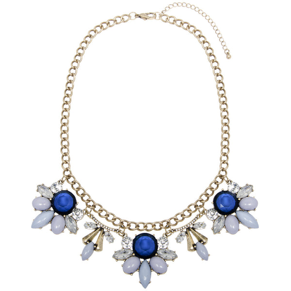 RAYNA Blue Floral Jewel Necklace