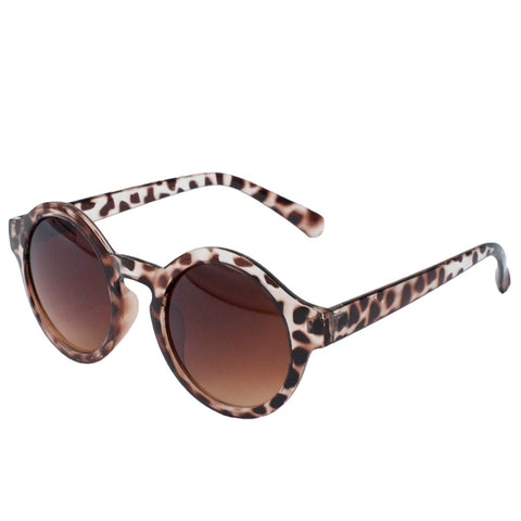 round sunglasses tortoise shell pattern