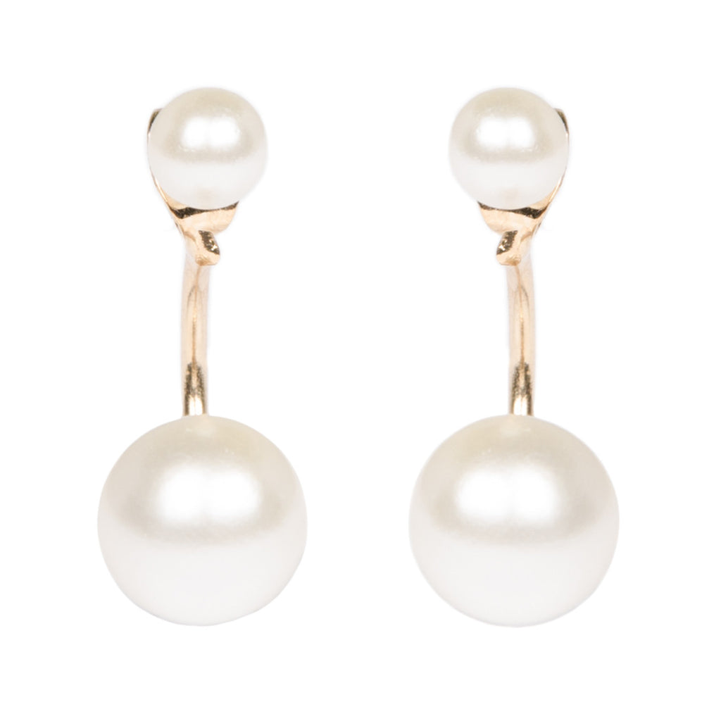 Gold Pearl Through And Through Earrings