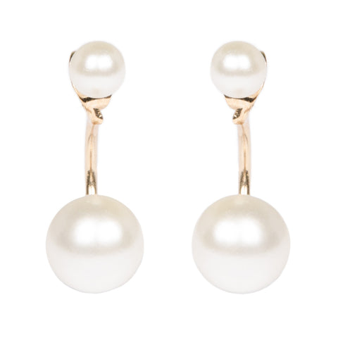 TALIA Gold Pearl Through And Through Earrings