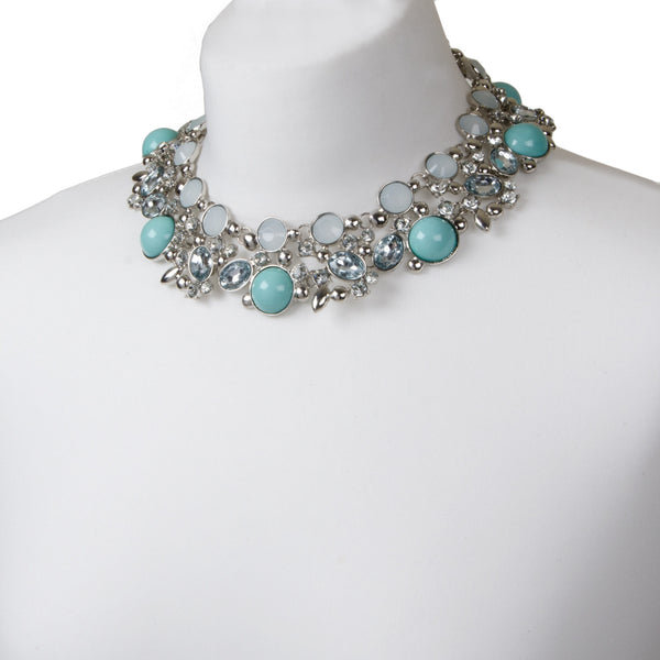 Statement Pastel Jewel Collar Necklace