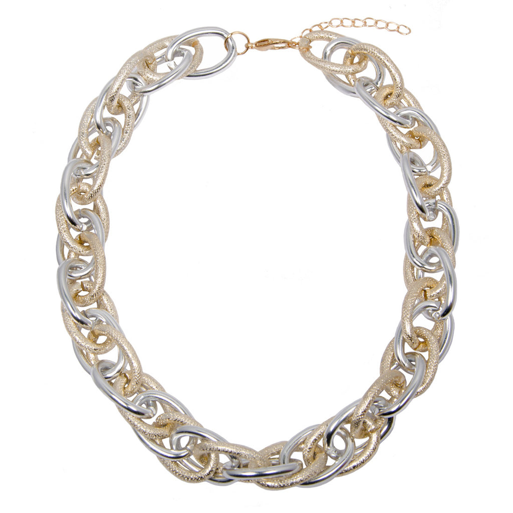 Gold And Silver Chunky Chain Necklace