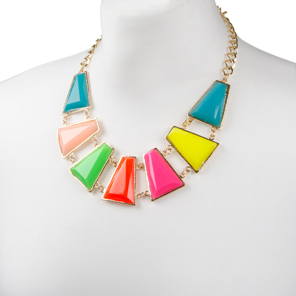 ALI Neon Colour Block Necklace