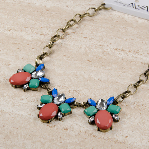 NINA Multicoloured Floral Jewel Necklace