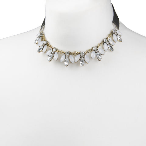 ORA White Jewel Choker Necklace