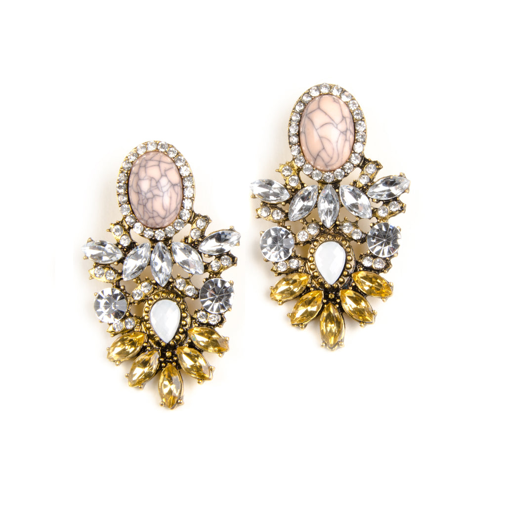 MARA Statement Pastel Jewel Earrings