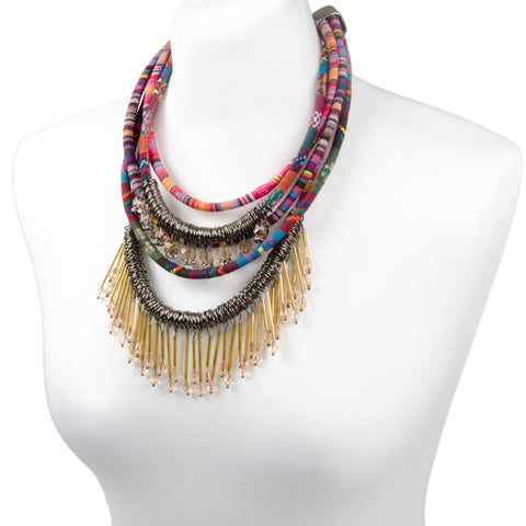 FREYJA Statement Layered Rope Necklace