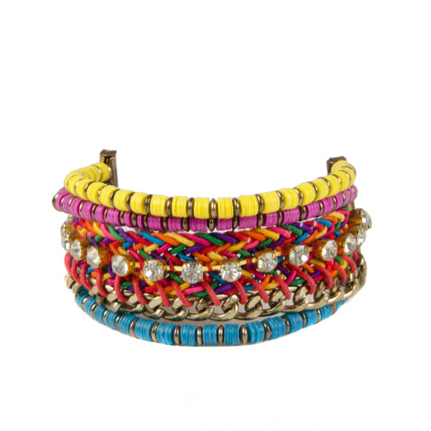 MISHA Bright Stacked Jewel Bracelet