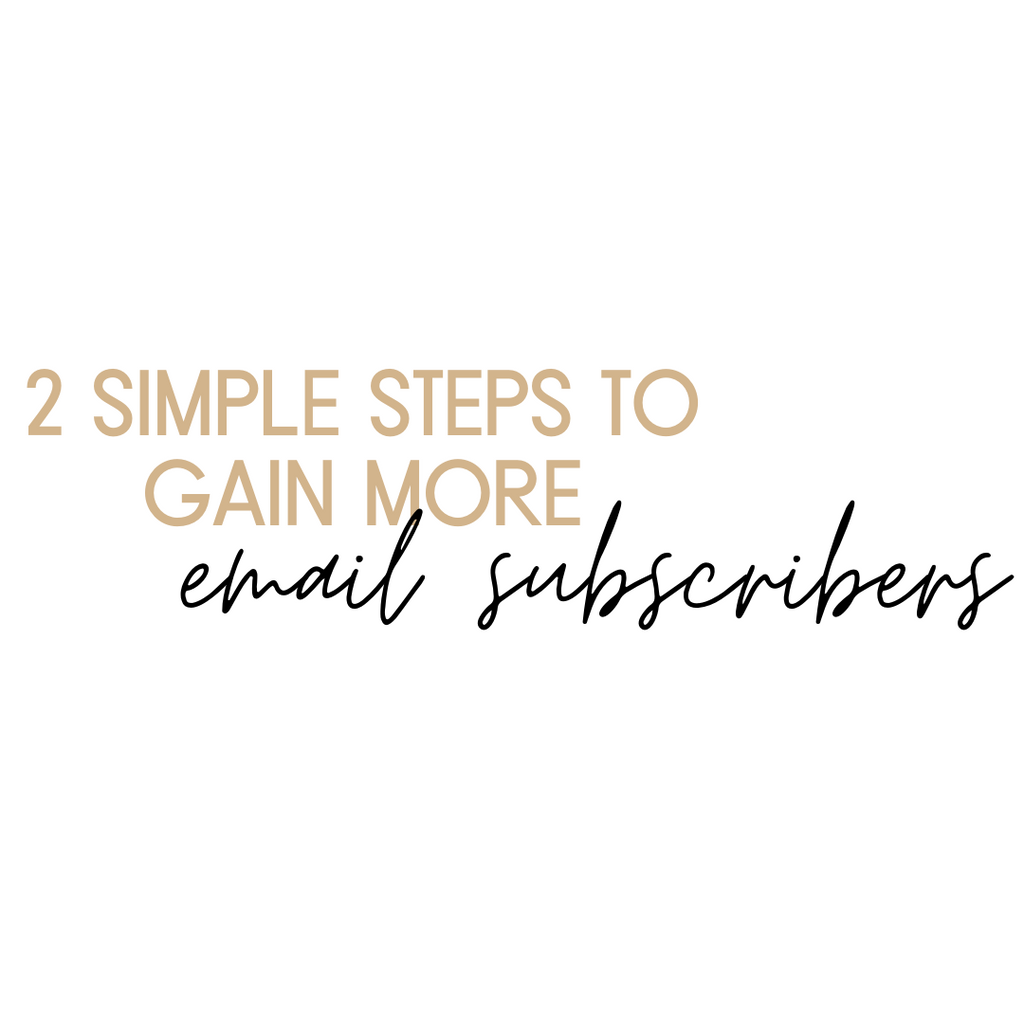 2 Simple Steps to Gain More Email Subscribers
