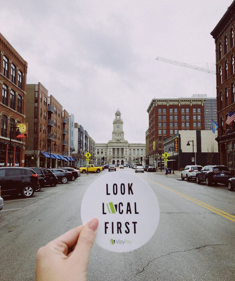 Look Local First Sticker