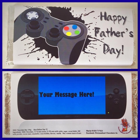 Father's Day Gaming Chocolate Bar