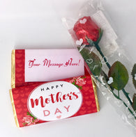 Rose Design 100g Mother's Day Bar with life-size chocolate rose set