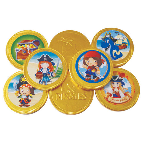 Chocolate Pirate Coins Large 38mm