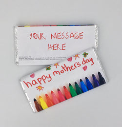 Mothers Day Colouring Pen 100g Personalised Chocolate Bar