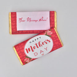 Personalised Mother's Day Rose Design Chocolate Bar